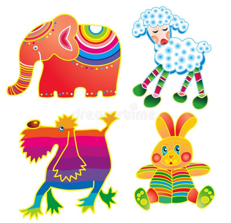 Animal divertido cuatro ilustración del vector