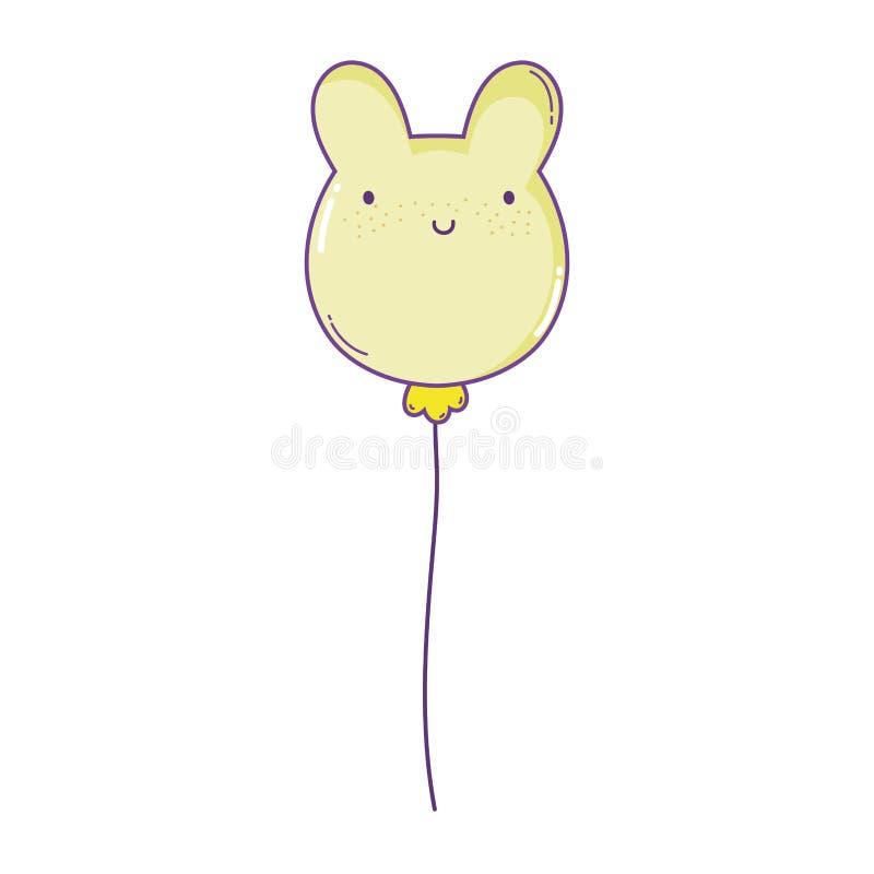 Animal do balão dado forma ilustração do vetor