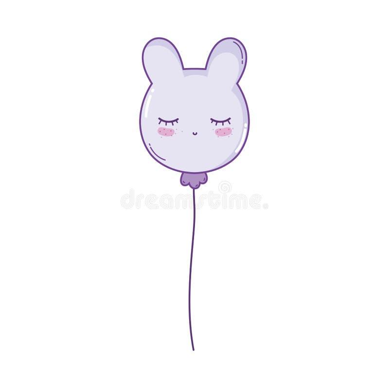 Animal do balão dado forma ilustração royalty free