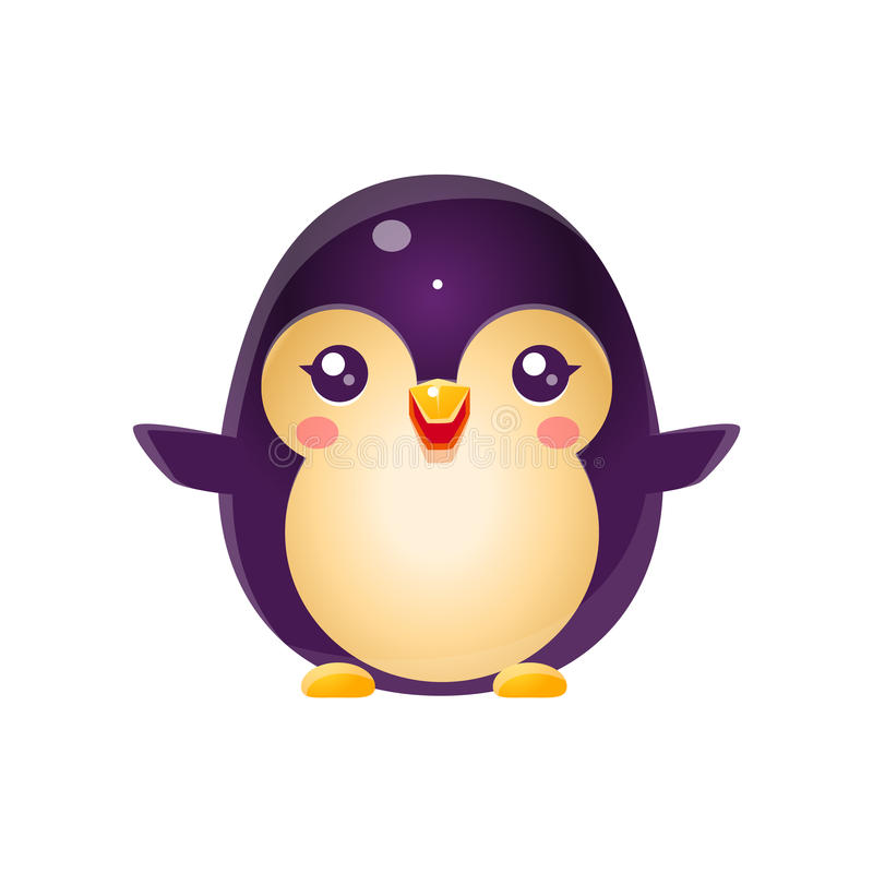 Animal do bebê do pinguim no estilo doce feminino ilustração royalty free