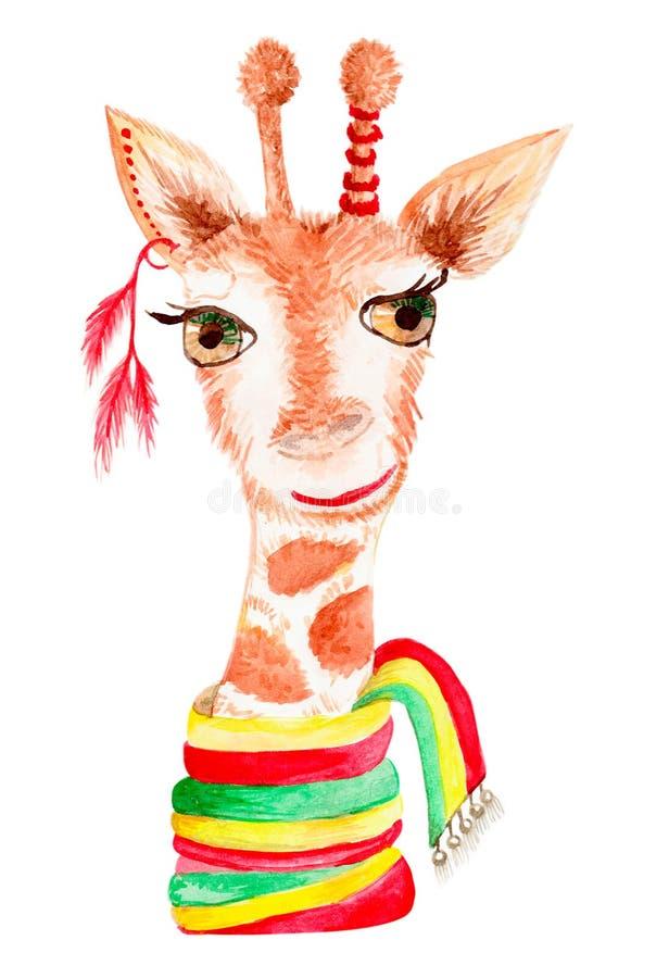 Animal do girafa do desenho fotografia de stock