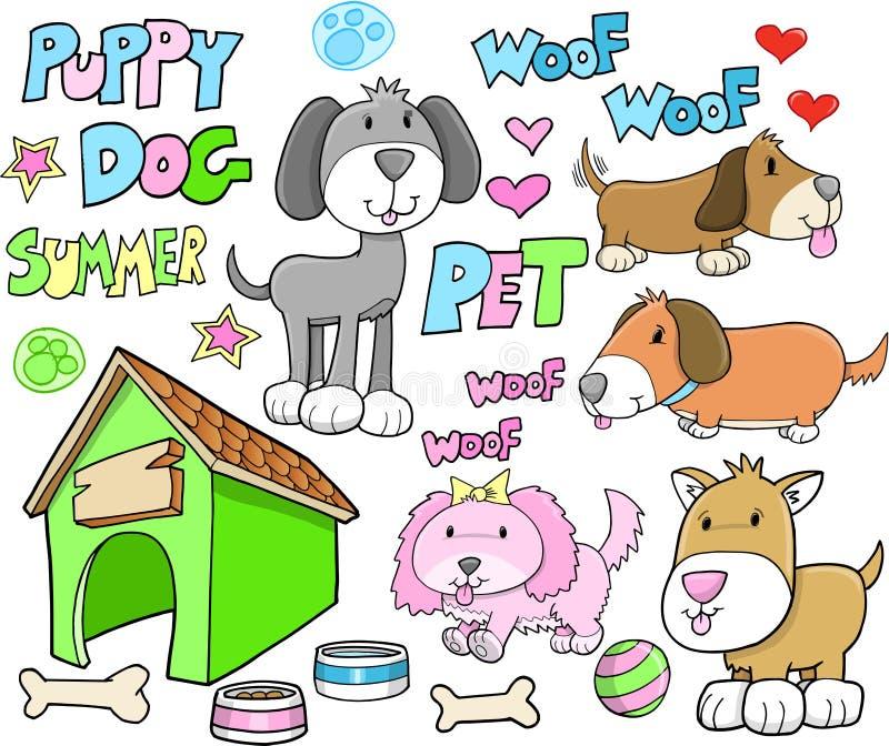 Animal doméstico animal lindo del verano del perro de perrito libre illustration
