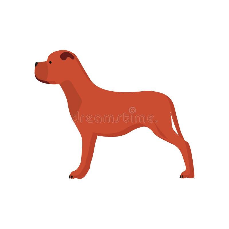 Animal doméstico del ejemplo del icono del vector de la vista lateral del perro silueta animal linda de la historieta del perrito ilustración del vector
