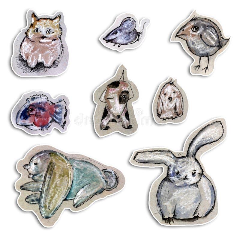 Download Animal drawing stock illustration. Image of cartoon, bird - 12038511