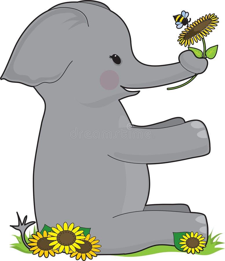 Animal E do alfabeto ilustração do vetor