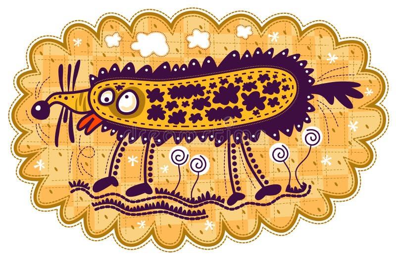 Animal et fleurs étranges illustration de vecteur