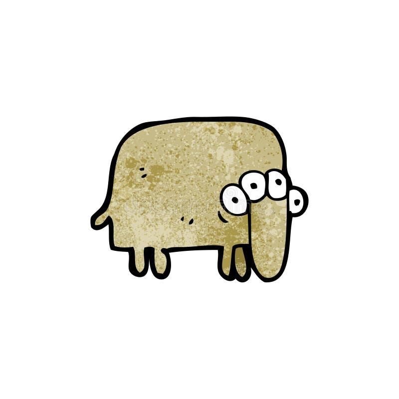 animal extranjero extraño de la historieta libre illustration