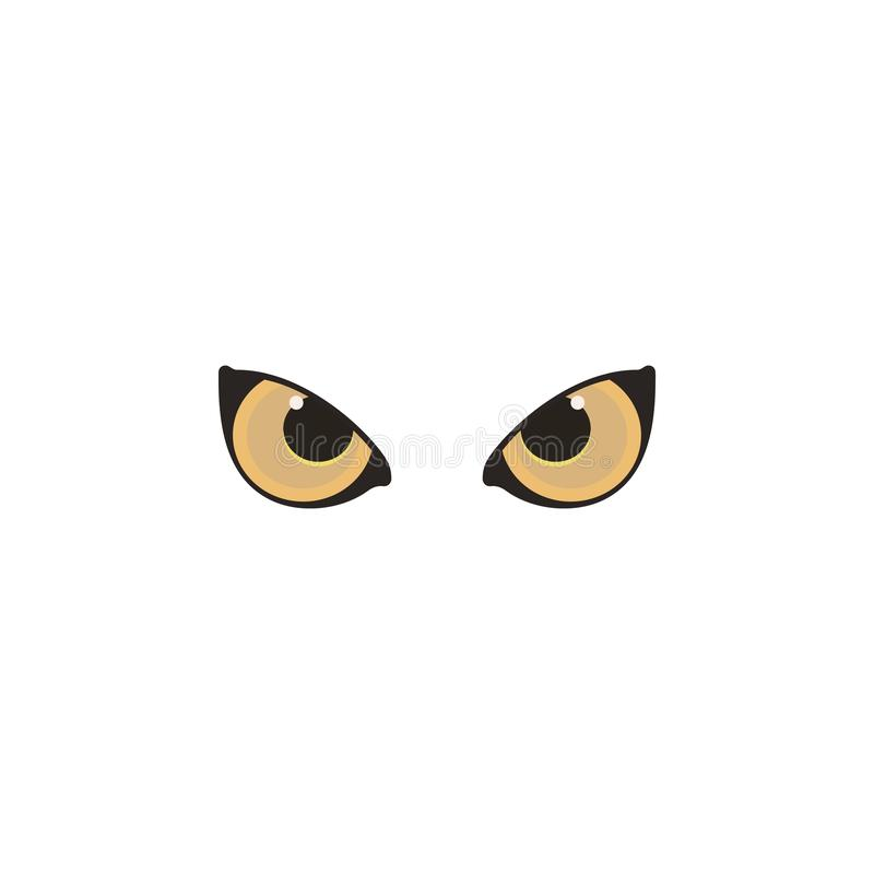 Animal eyes brown color icon. Elements of eyes multi colored icons. Premium quality graphic design icon. On white background royalty free illustration