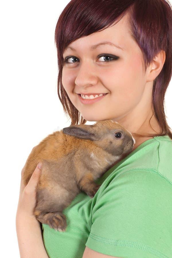 Animal familier d'adolescent photo stock