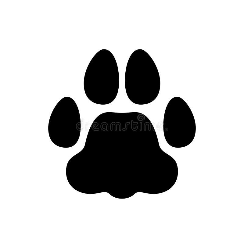 Animal familier d'empreinte de pas illustration stock