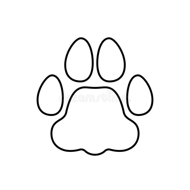Animal familier d'empreinte de pas illustration libre de droits