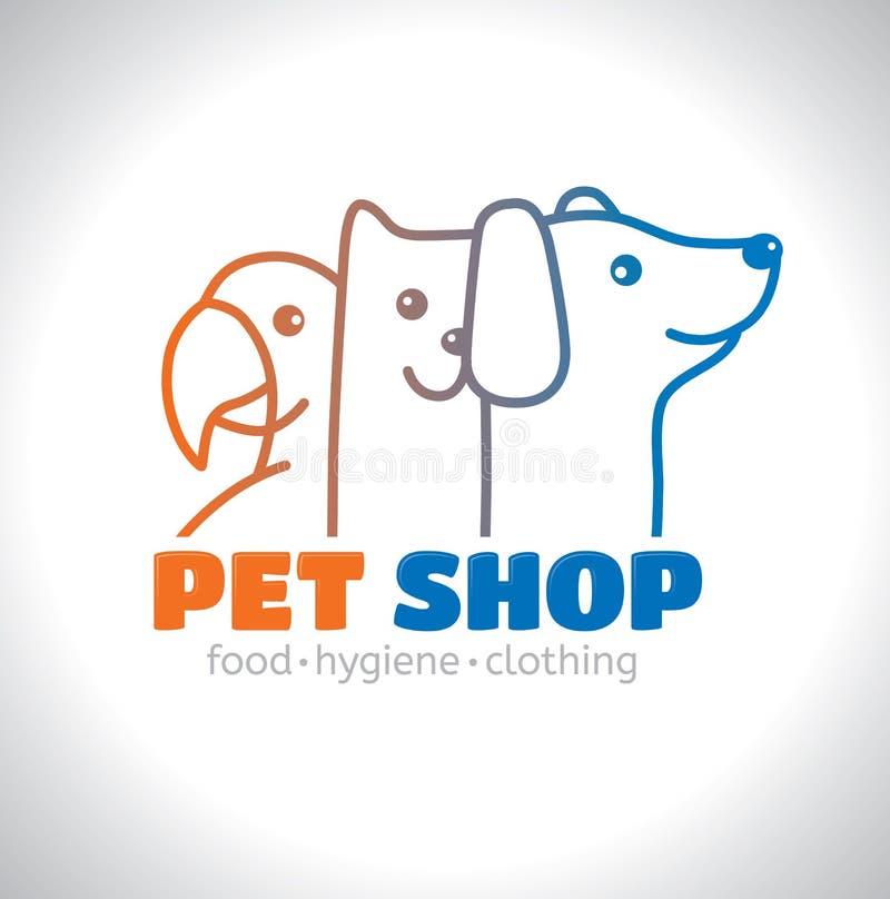 Animal familier de logo illustration de vecteur