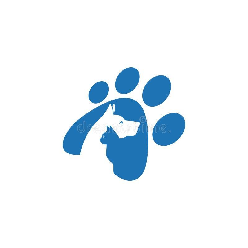 Animal familier et vétérinaire Logo, groupe animal d'amant illustration de vecteur