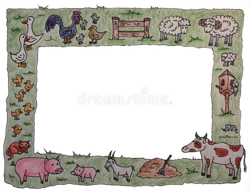 Animal farm frame royalty free stock photo