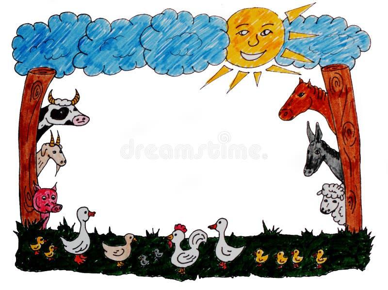 Animal farm frame stock illustration. Illustration of graphics ...