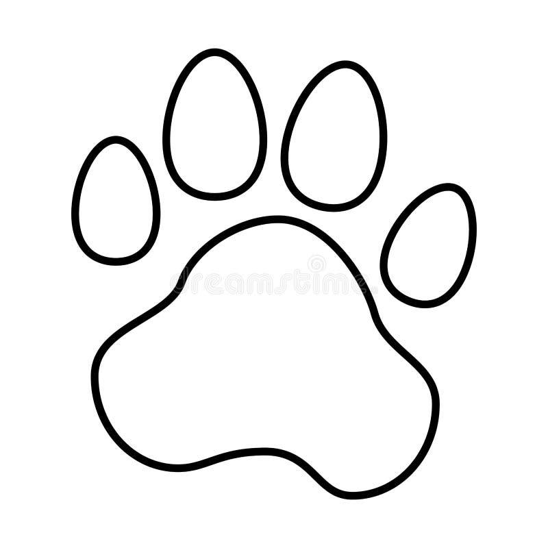 animal foot print icon illustration stock