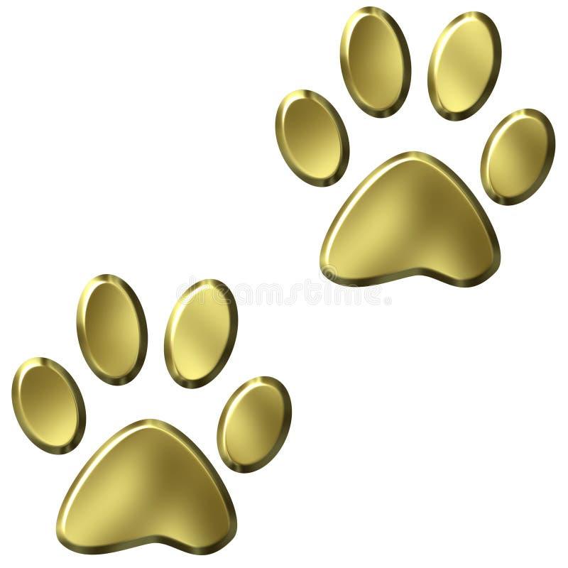 Animal Foot Prints Royalty Free Stock Photography
