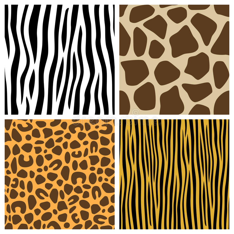 Free Animal Fur Seamless Patterns Stock Photos - 22629923