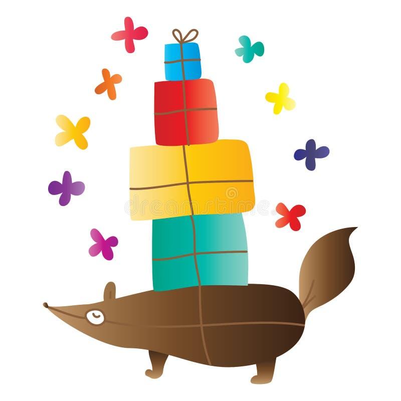 Animal gift cute stock illustration