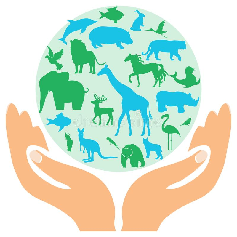 Animal green worldhuge collection of icons and elements. Animal green world - huge collection. Of icons and elements stock illustration