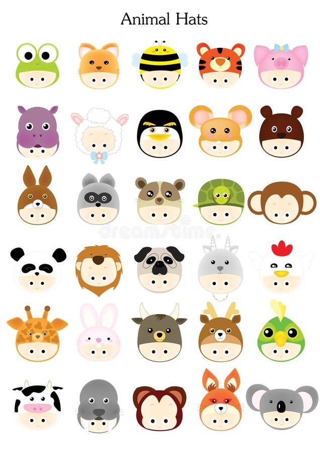 Animal hat stock photography