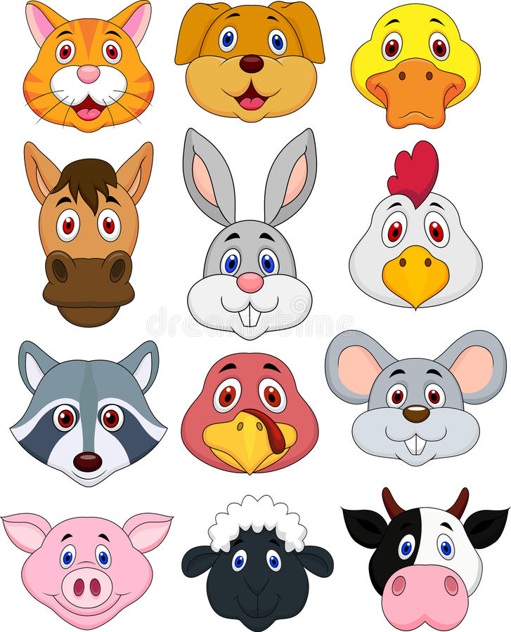Free Animal Head Cartoon Set Stock Photos - 30344323