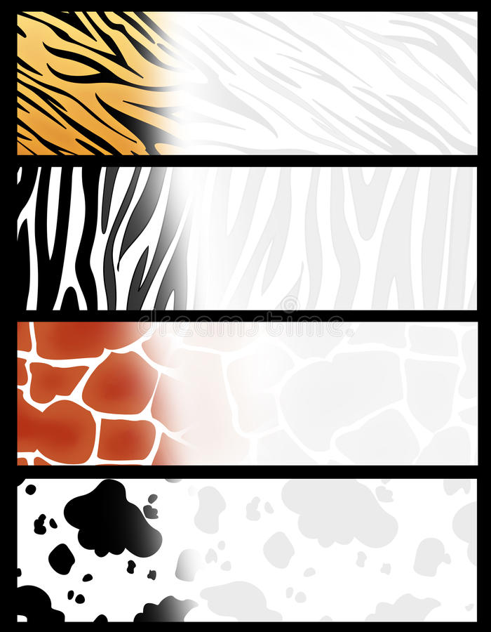 Animal header / banner vector illustration