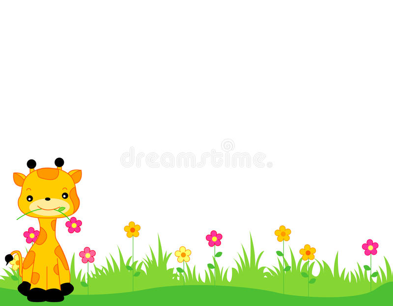 Download Animal header / border stock vector. Image of brown, cartoon - 12209769