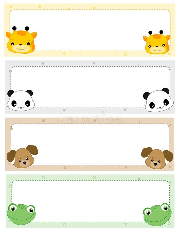 Animal headers stock illustration