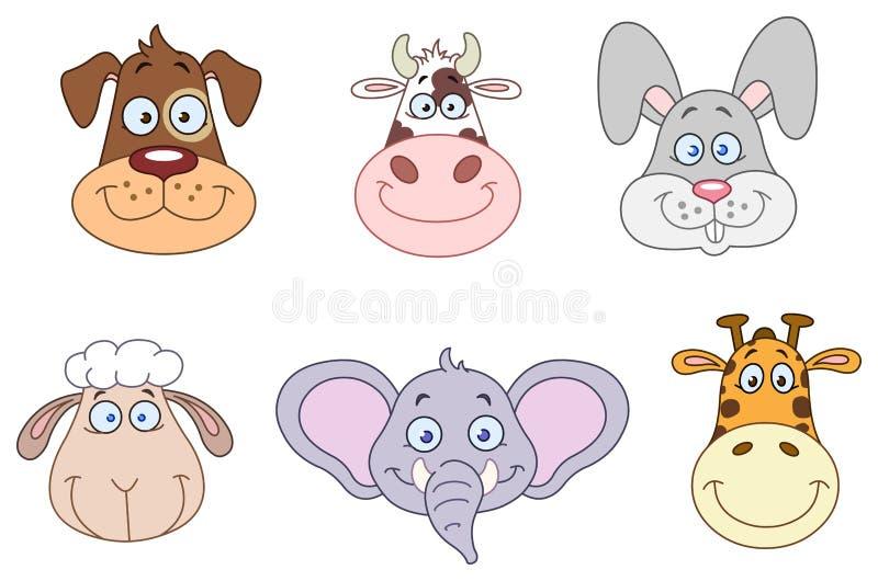 Animal Heads 2 Stock Photo