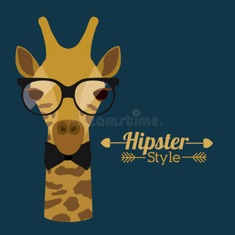 Download Animal hipster design stock vector. Illustration of mascot - 39332720