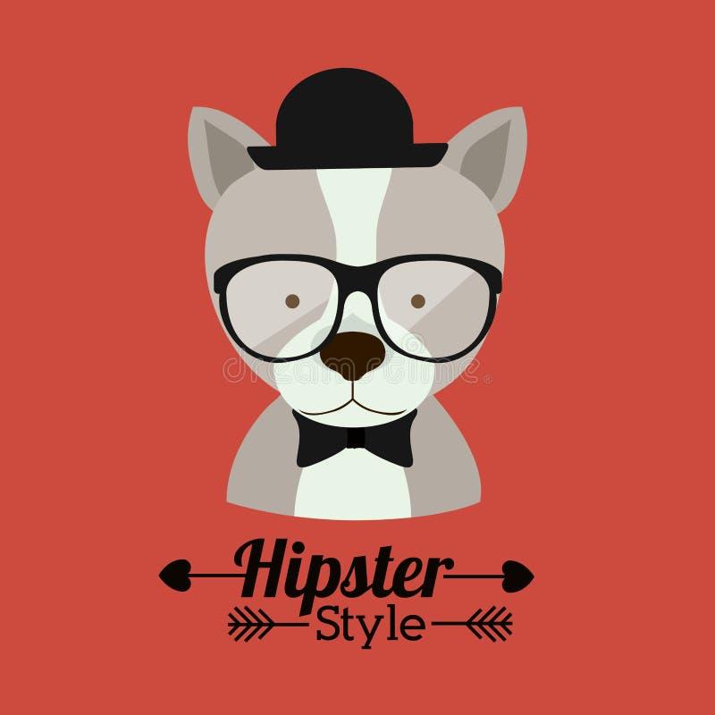 Animal hipster design stock illustration