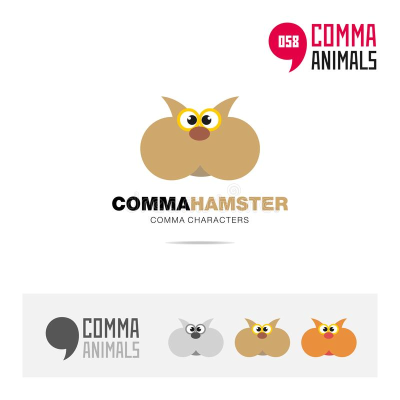 Hamster animal concept icon set and modern brand identity logo template and app symbol based on comma sign royalty free illustration