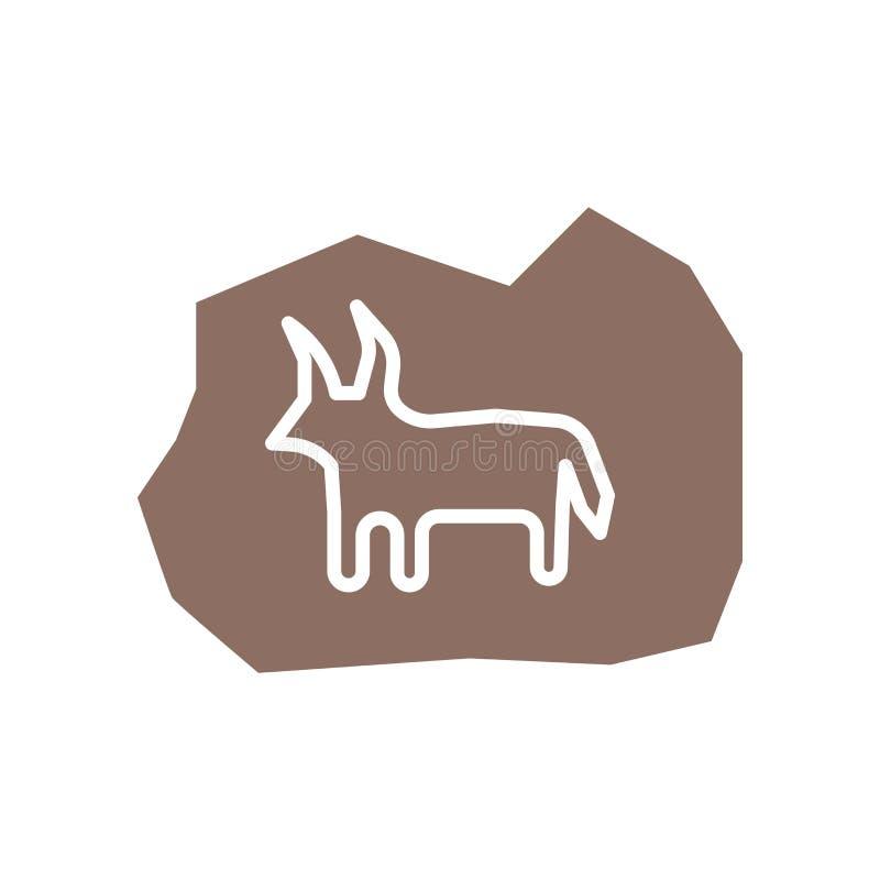 Animal icon vector isolated on white background, Animal sign , historical stone age symbols. Animal icon vector isolated on white background, Animal transparent stock illustration