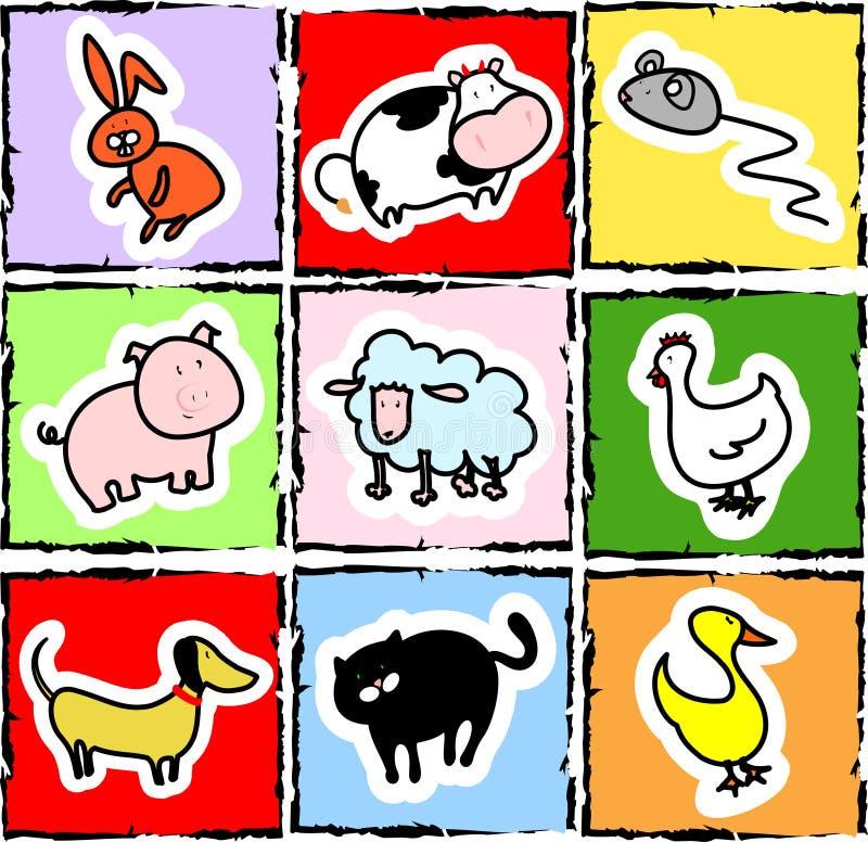 Animal icons stock photos