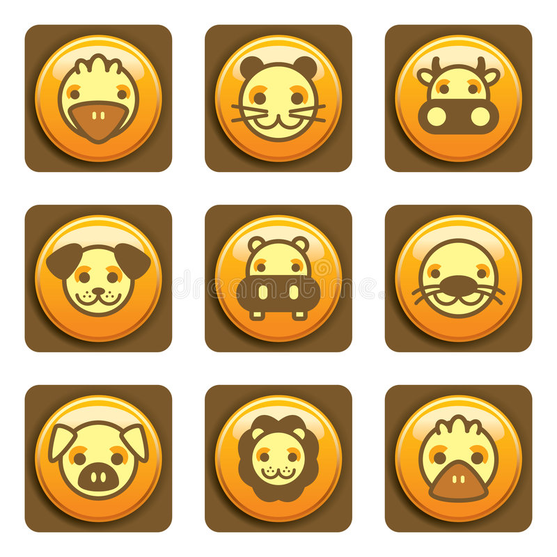 Animal Icons stock illustration
