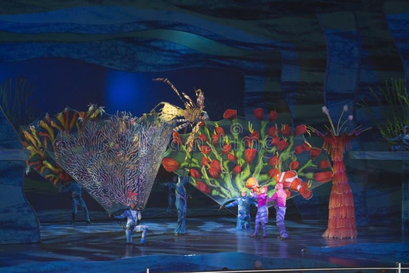Animal Kingdom - Finding Nemo – The Musical. A scene from Finding Nemo - The Musical in Disneys Animal Kingdom, Walt Disney World, Disney Orlando stock photography