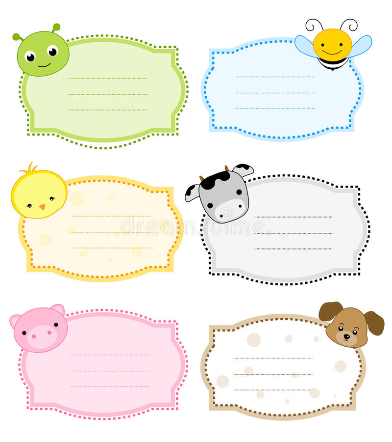 Animal label / frame stock illustration