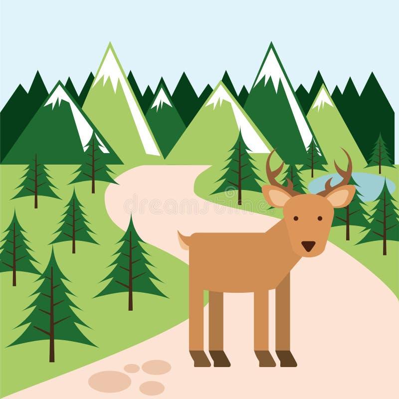 Animal lindo stock de ilustración