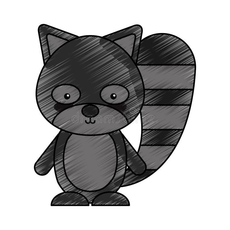 Animal lindo del arbolado del castor libre illustration