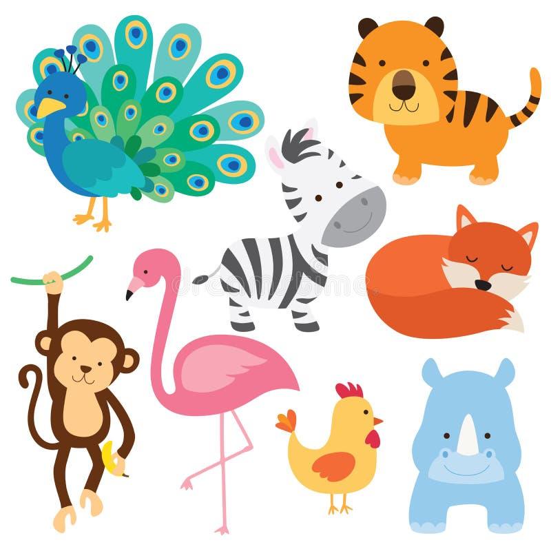 Animal lindo del bebé stock de ilustración