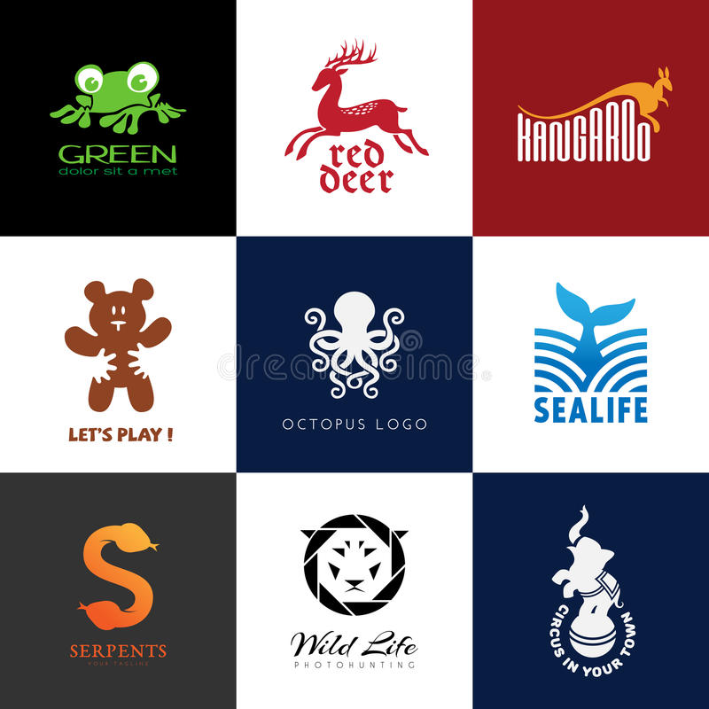 Animal logos vector illustration