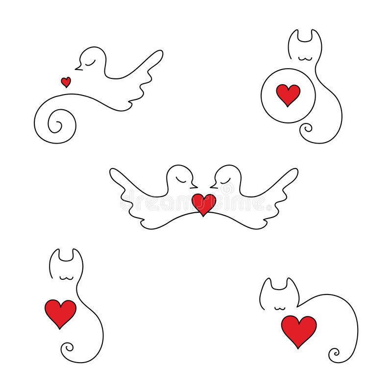 Download Animal Love Logos And Elements Stock Vector - Image: 7931746