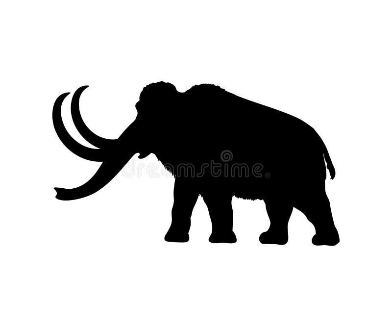 Animal mamífero extinto de la silueta gigantesca stock de ilustración