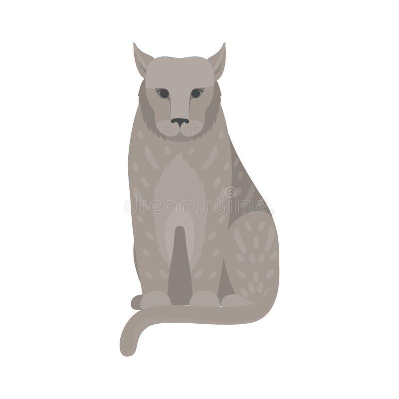 Animal mammifère sauvage de lynx mignon Grand chat illustration stock