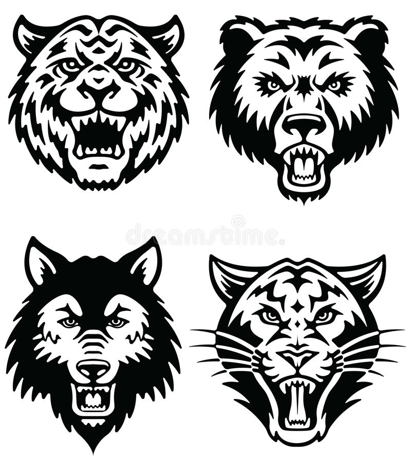 Download Animal Mascot Vector Logo Set Stock Vector - Illustration: 31718702