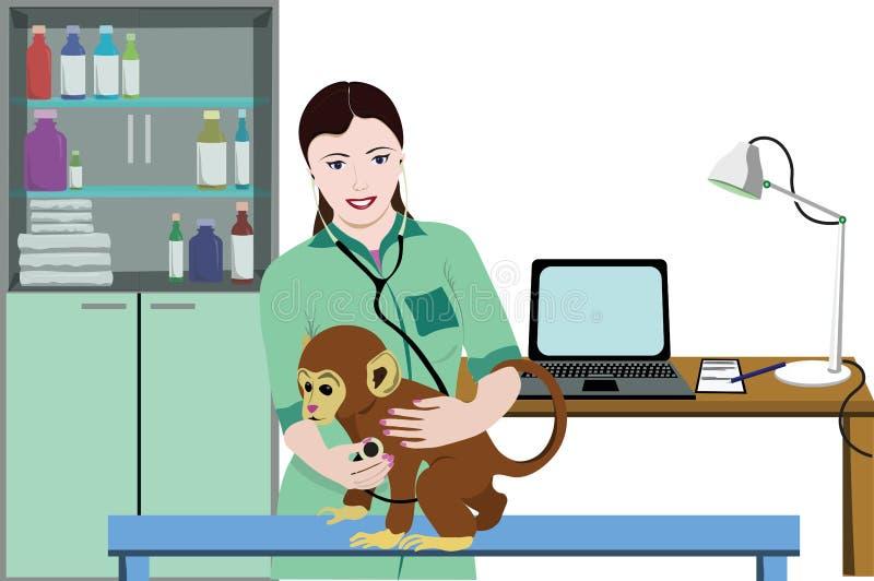 Animal Medical Treatment Template stock illustration