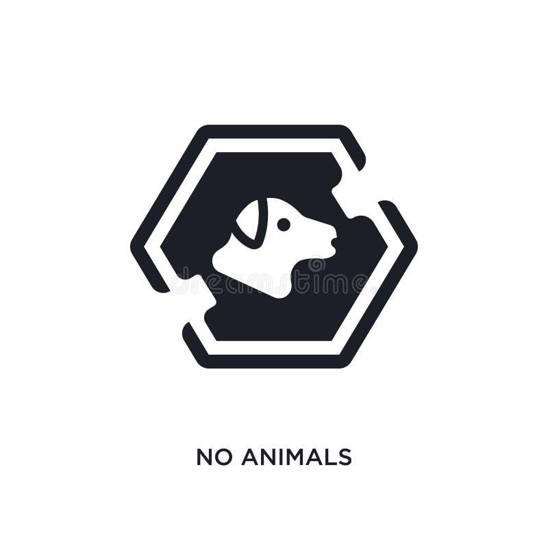 animal n'a pas isolé l'icône illustration simple d'élément des icônes de concept de signes pas conception editable de symbole de  illustration de vecteur