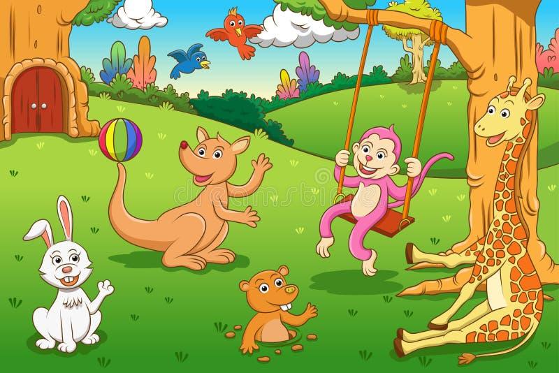 Animal na selva ilustração royalty free