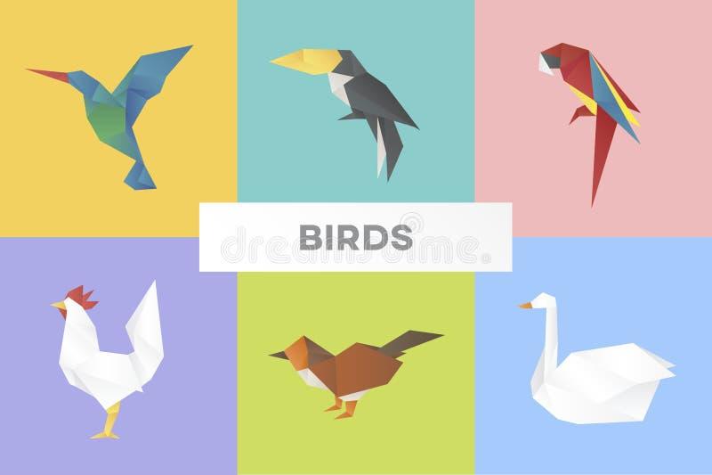 Animal in origami style stock illustration